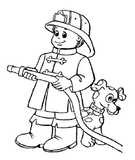 firefighter coloring pages for az coloring pages - Firefighter Coloring Page