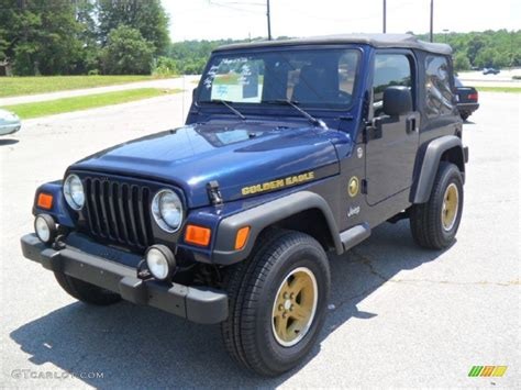 2006 jeep golden midnight blue pearl 2006 jeep wrangler sport 4x4 golden