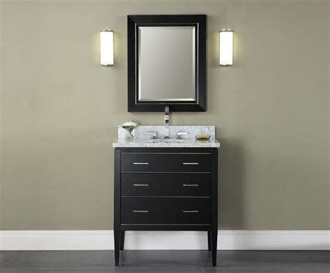 Modern Black Bathroom Vanity Manhattan 30 Inch Black Contemporary Bathroom Vanity