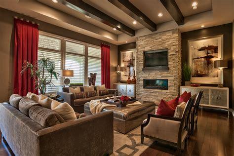 omaha ceiling grommet living room transitional  brown