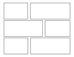 7 best images of printable comic book layout template