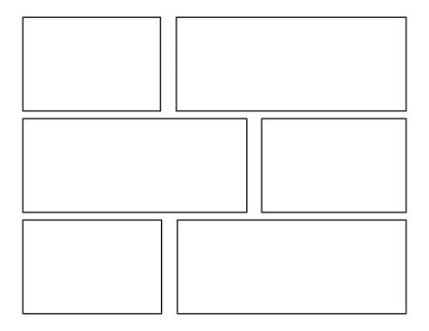 Printable Blank Comic Template For by 7 Best Images Of Comic Template Printable Comic