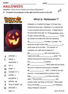 halloween reading comprehension worksheets pdf english