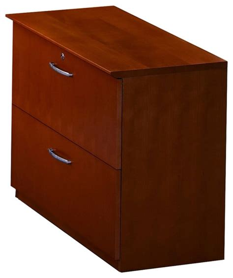 Mayline Napoli 2 Drawer Lateral Wood File Cabinet In Cherry Wood Lateral File Cabinet