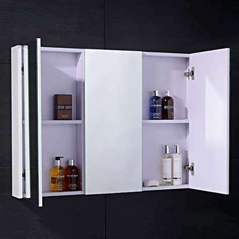 3 door mirrored bathroom cabinet white windsor cuba aspen 90cm 3 door white mirror cabinet