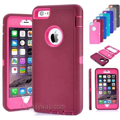 protective hybrid shockproof cover for apple iphone 6 6s plus ebay