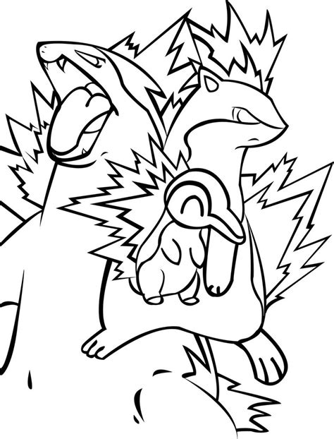 pokemon coloring pages cyndaquil pokemon coloring pages cyndaquil coloring page