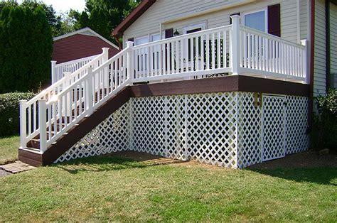 lattice  deck deck design  ideas