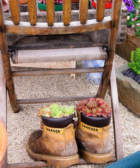 Shoe Planters by 35 Ideas To Use Shoes As Planters Shelterness