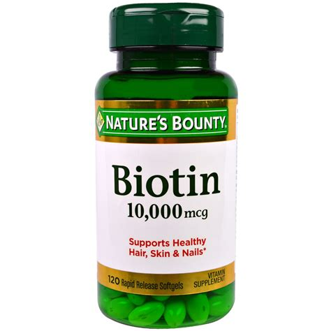 Biotin Also Search For Nature S Bounty Biotin 10 000 Mcg 120 Rapid Release Softgels Iherb