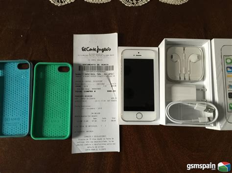 comprar iphone 5 corte ingles vendo iphone 5s 16gb plata libre factura el corte ingles