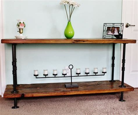 industrial pipe console table 25 great ideas about rustic console tables on