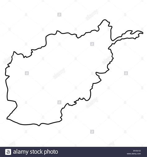 Afghanistan Country Map Outline by Outline Map Of Afghanistan Stock Photo Royalty Free Image 34046025 Alamy