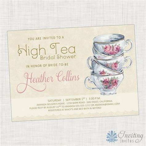 Vintage Tea Bridal Shower Invitations by Vintage Tea Cup Bridal Shower Invitation Baby Shower