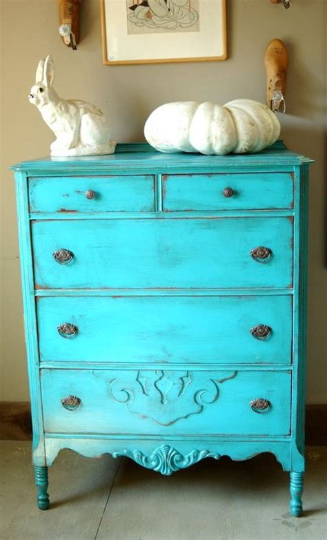 Antique Shabby Chic Painted Dresser Turquoise Blue Shabby Chic Blue Furniture