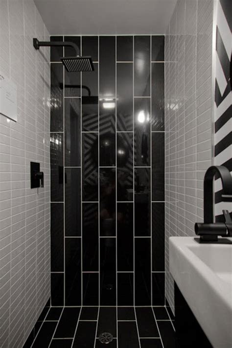 Black Bathroom Tile Ideas 36 Black And White Shower Tile Ideas And Pictures