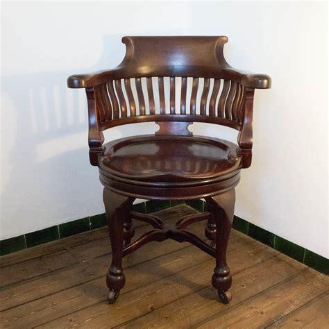 Victorian Mahogany Shannon Swivel Captains Chair Swivel Captains Chair
