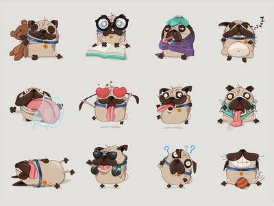 pug chasing pugs by andra popovici dribbble