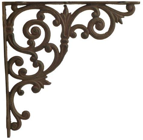 Decorative Wrought Iron Shelf Brackets by Cast Iron Shelf Brackets Ornate Shelf Brackets Ornate