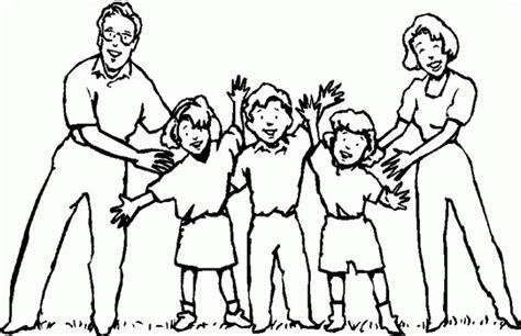 imagenes para pintar la familia dibujo de la familia para pintar imagui