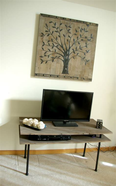 Home Decor Tv Diy Tv Stand A Blend Of Industrial Rustic And Modern Home Decor Pin