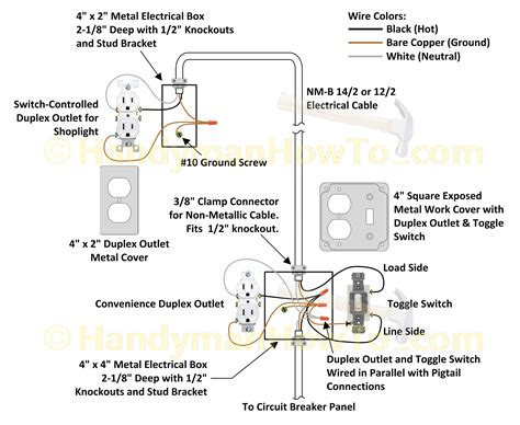 wiring diagrams for light switch and outlet how to wire an attic electrical outlet and light