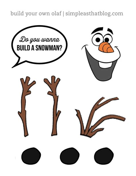 printable make olaf olaf head cut out images
