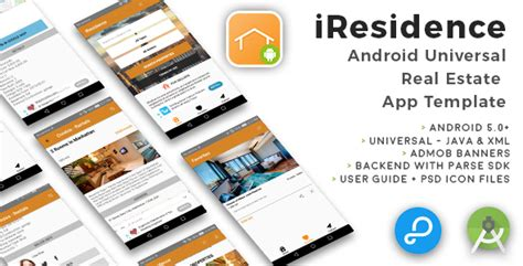android templates for sale iresidence android universal real estate app template by