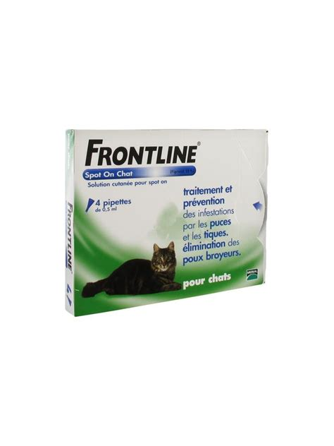Frontline Spot On Cat frontline spot on cat 4 pipettes buy at low price here