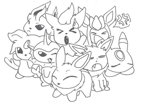 pokemon coloring pages all eevee evolutions download pokemon coloring pages eevee evolutions all