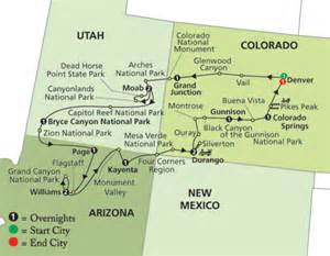 map of western united states national parks images