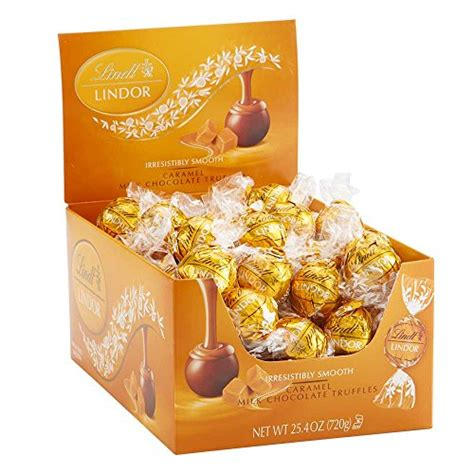 Lindt Lindor Milk Chocolate Truffles Cokelat Import Swiss Coklat lindt lindor caramel milk chocolate truffles 60 count box