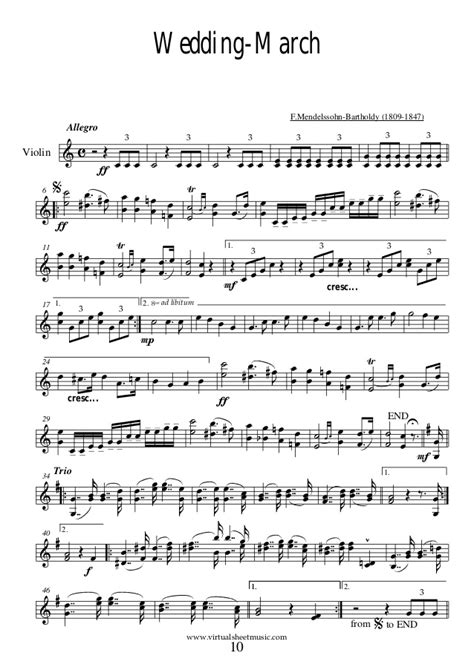 Wedding Song Violin Sheet by Wedding Violin Piano Collection