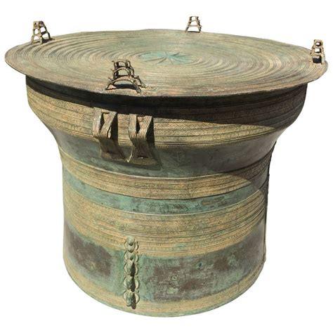 Drum Side Table Bronze Drum Side Table At 1stdibs