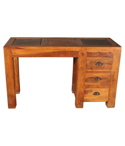 Sheesham Wood Desk by Sheesham Wood Writing Desk With Three Drawers Buy