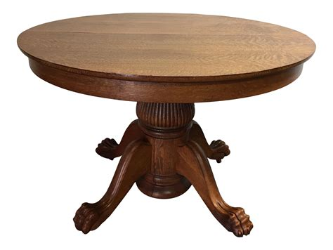 Antique Tiger Oak Dining Table Antique Tiger Oak Dining Table Chairish