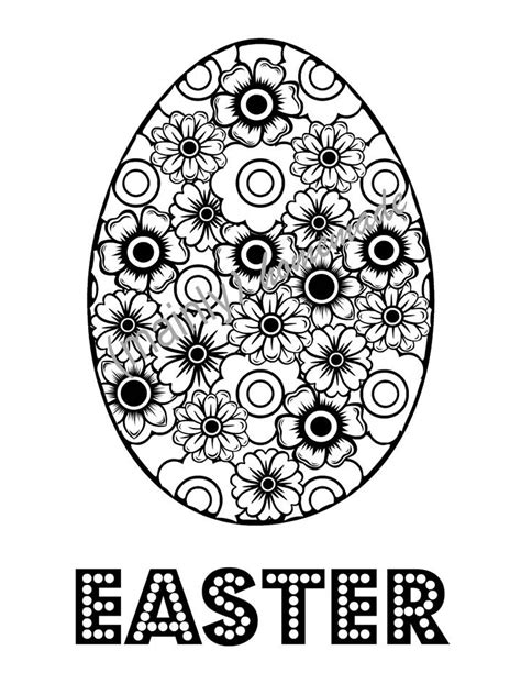 fun easter egg coloring page