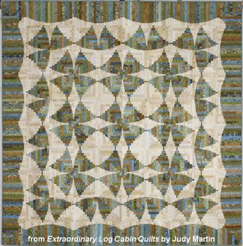 Judy Martin Quilts Log Cabin by Mariposa Log Cabin Quilt Designed And Pieced From Scraps