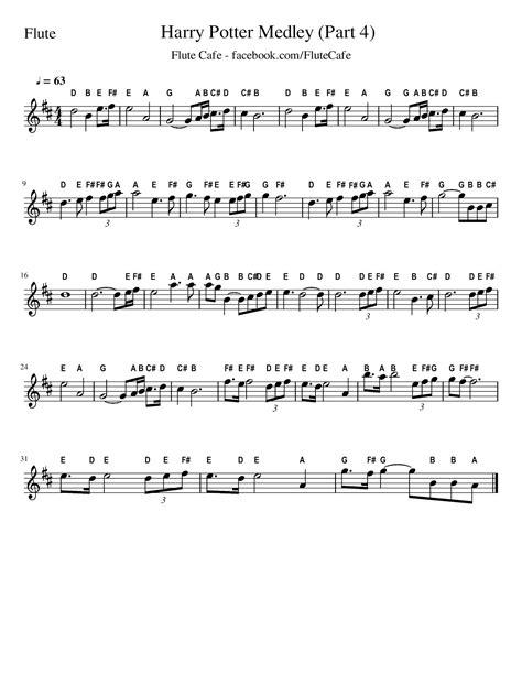 flute cafe harry potter medley flute sheet music