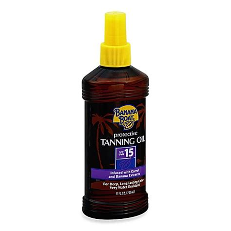 sunscreen in tanning bed banana boat 174 8 oz protective tanning oil sunscreen spray