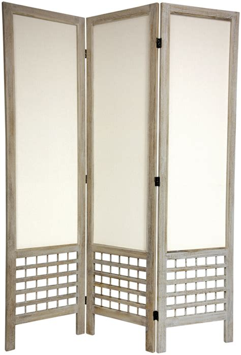 Fabric Room Divider Furniture 6 Open Lattice Fabric Room Divider Wht 3 Panel