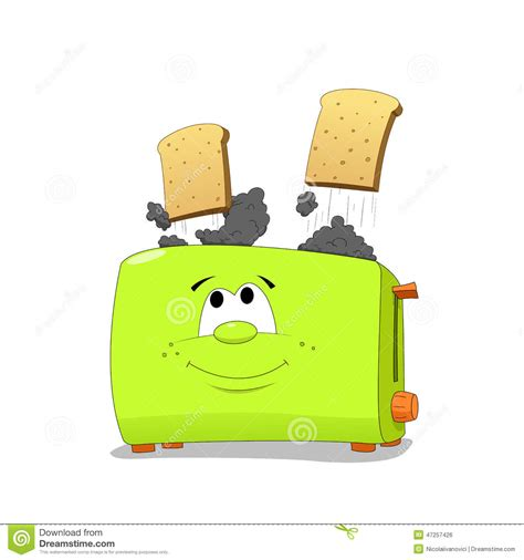 Toasters Toast Toast Funny Toaster Stock Vector Image 47257426