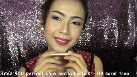 Lipstick Inez Glow Matte inez 900 glow matte lipstick silva salsabila
