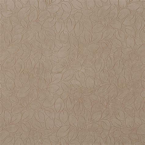 patterned microfiber upholstery fabric fawn brown small textured leaf pattern microfiber