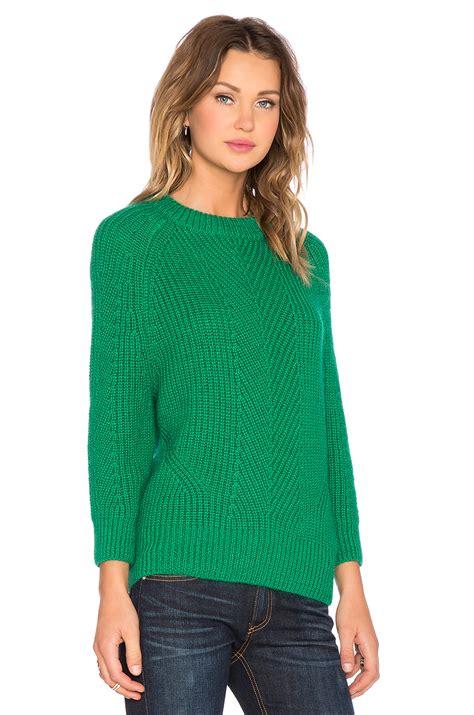 Sweater Chelsea 2015 demylee chelsea sweater in green lyst