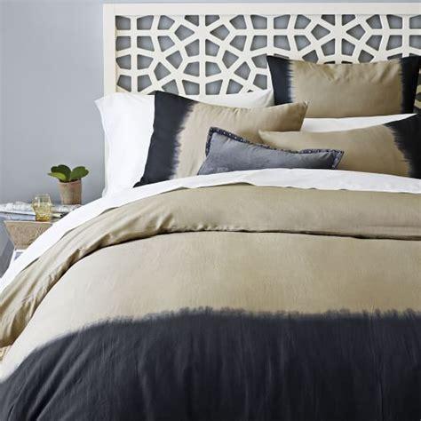 west elm covers dip dye linen cotton blend duvet cover shams plaster