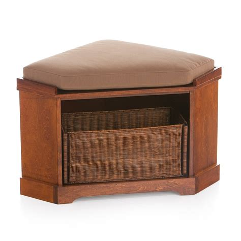 corner entry bench deauville corner storage bench cushion at hayneedle