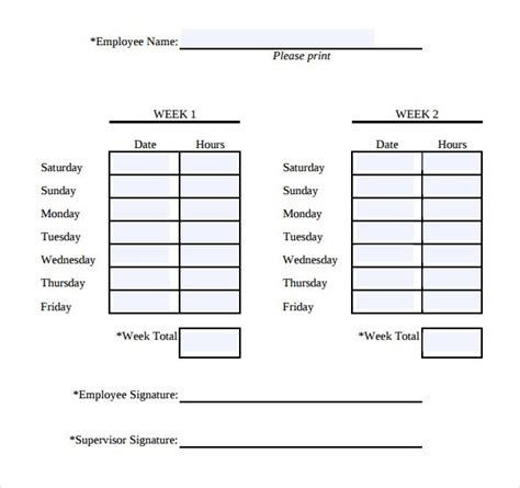 simple weekly time card template simple weekly timesheet 13 simple timesheet templates