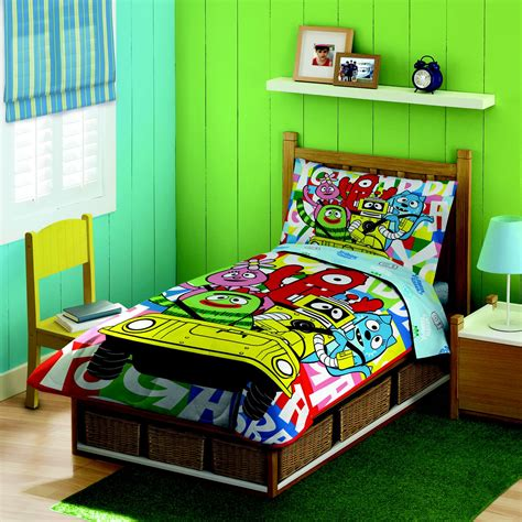 yo gabba gabba bedding nickelodeon yo gabba gabba 4 toddler bedding set