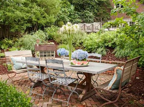 Zinc Patio Table I Want An Outdoor Table Just Like This One The Great